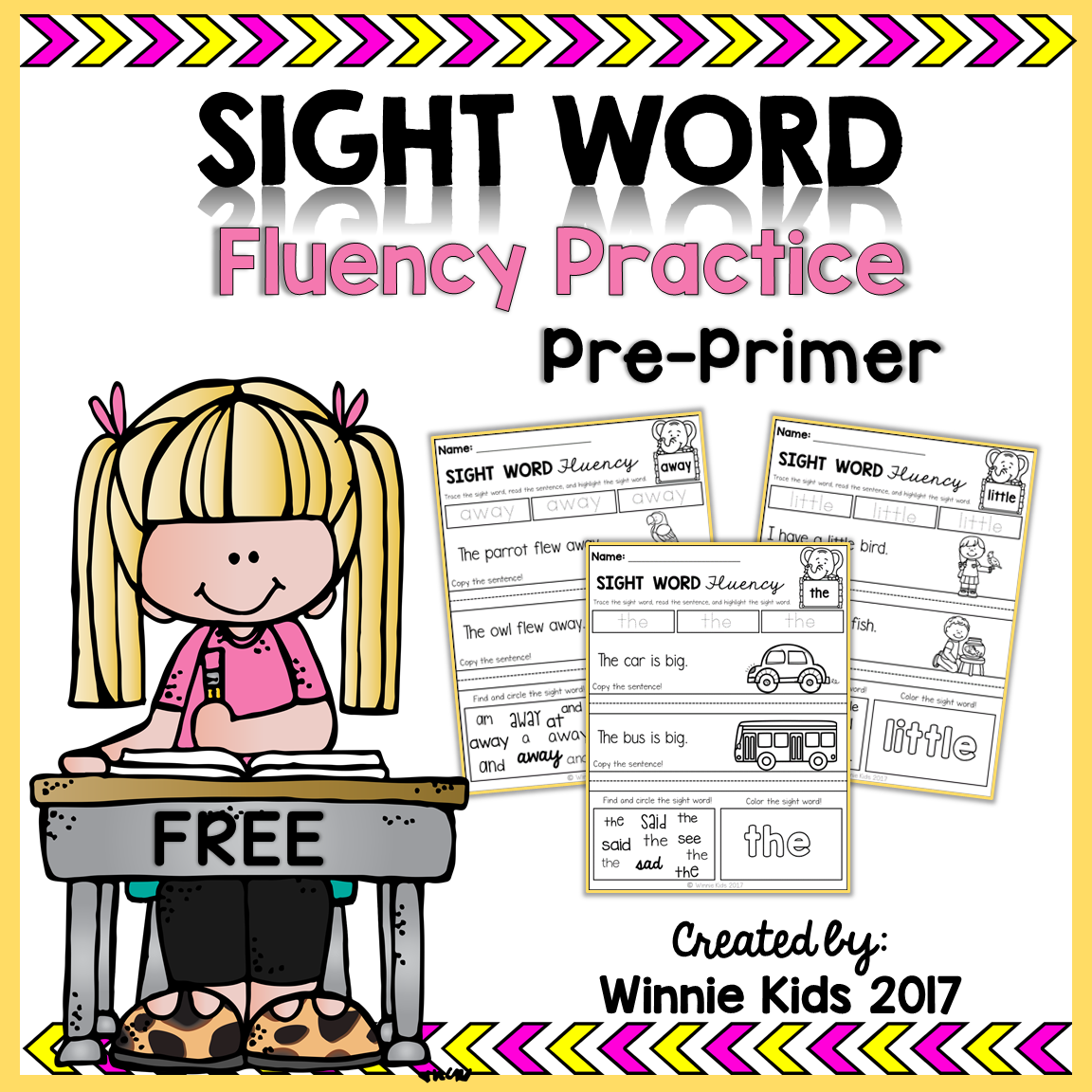 Free Sight Word Fluency Practice