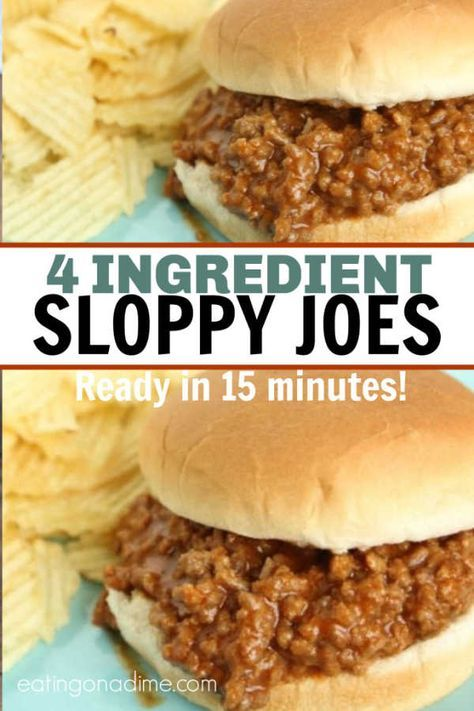 Easy Sloppy Joes Recipe - homemade sloppy joes wit