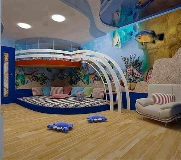 Amazing Kid Bedrooms That Are Probably Better Than Yours 32 Pics Cool Kids Rooms Cool Loft Beds Kid Room Decor