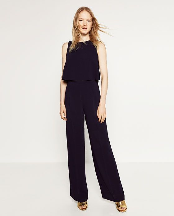 0eb5e8d691c0 Image 1 of JUMPSUIT WITH OPEN BACK from Zara