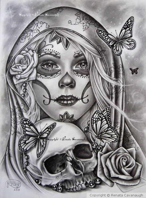 Friend Tattoos – Día de los Muertos 2018 I started this back in October as a tattoo design The…
