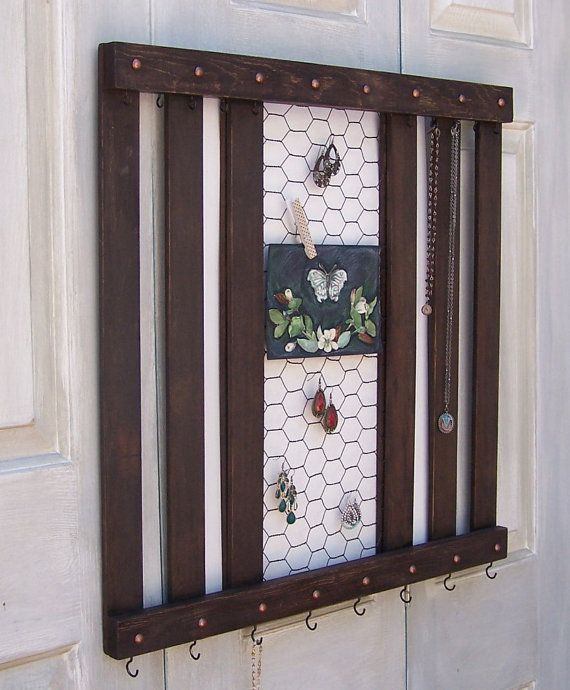 Rustic Jewelry Holder Storage Display Organizer by AustinJames For