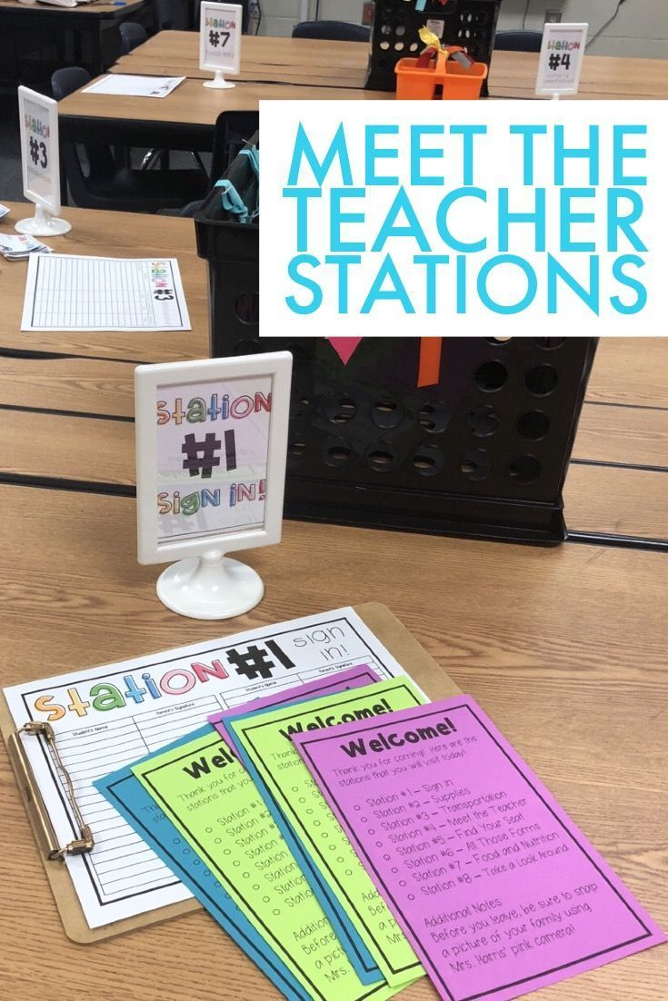 Meet the Teacher Stations - Open House Stations