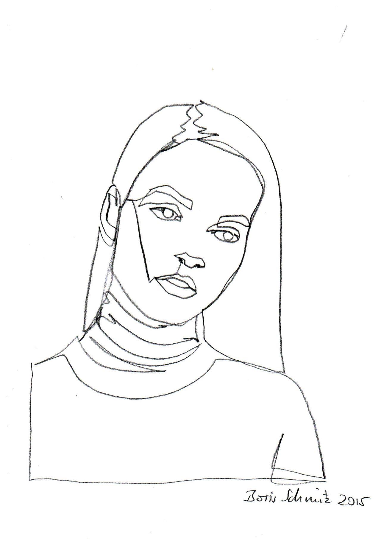 Gaze 208 one continuous line drawing by boris schmitz for Art of minimal boris