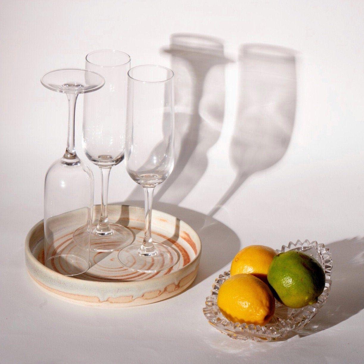 Serving Plate . . #artisangifts #wheelthrown #drinkware #ceramicplate #handmadeceramic #servingtray #handmade