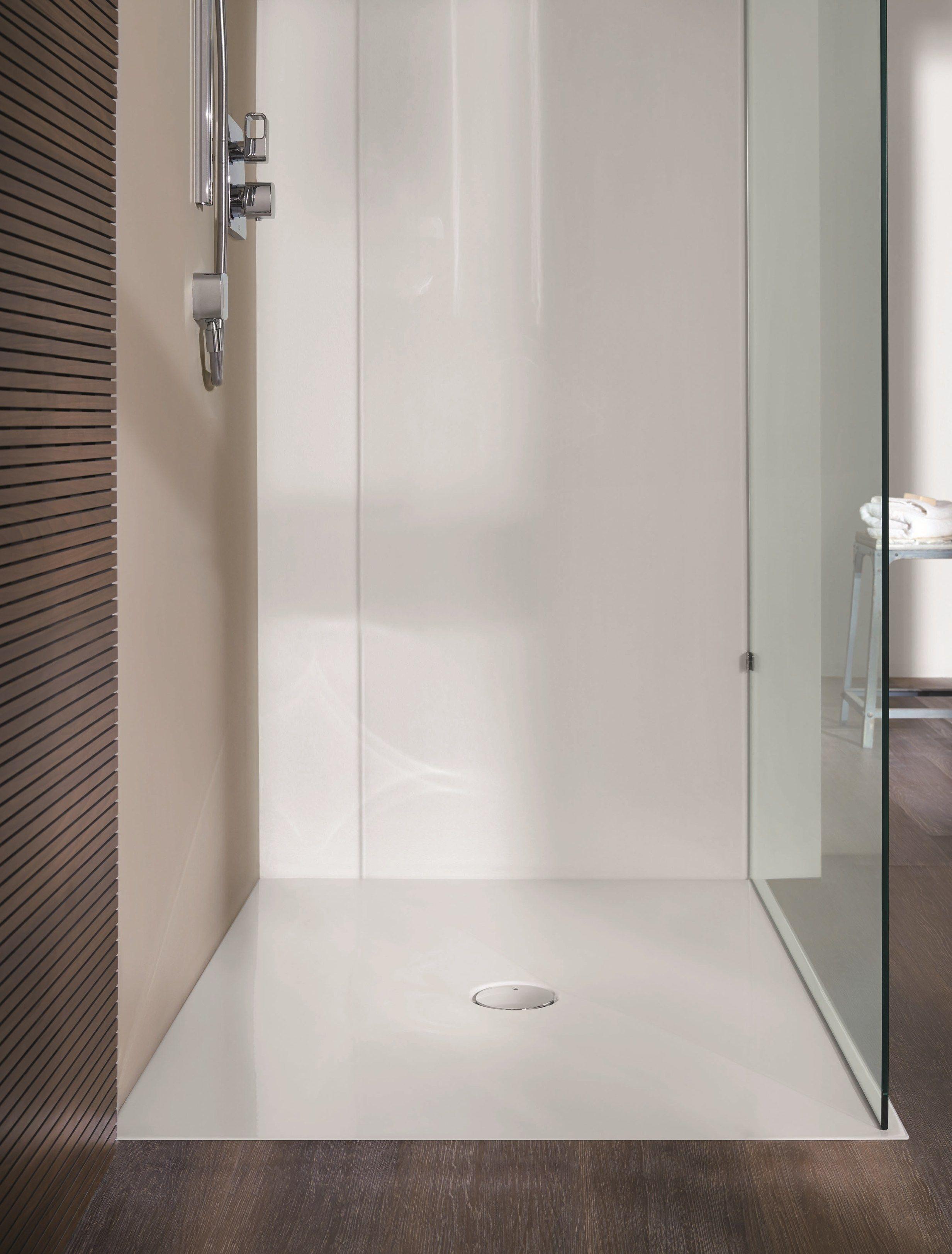 Piatto doccia filo pavimento rettangolare in acciaio