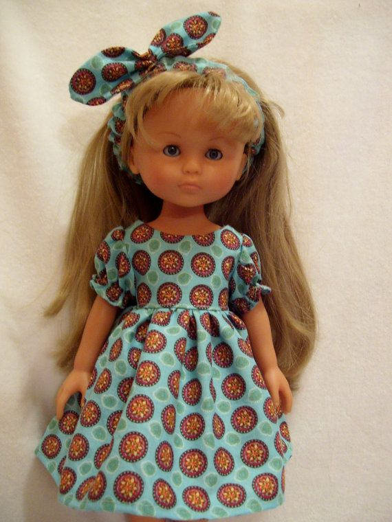 Corolle Les Cheries Doll Clothes, Dress and Headband, fits 13-14inch slim Dolls
