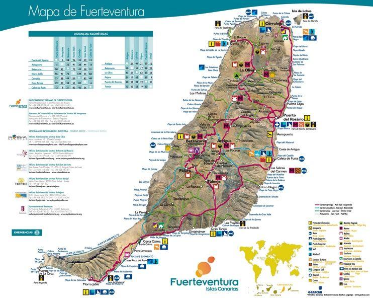 Fuerteventura tourist map Maps Pinterest Tourist map and Spain