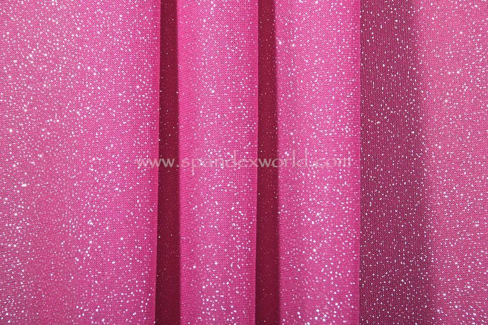 Sheer Glitter/Pattern (Fuchsia/Silver)