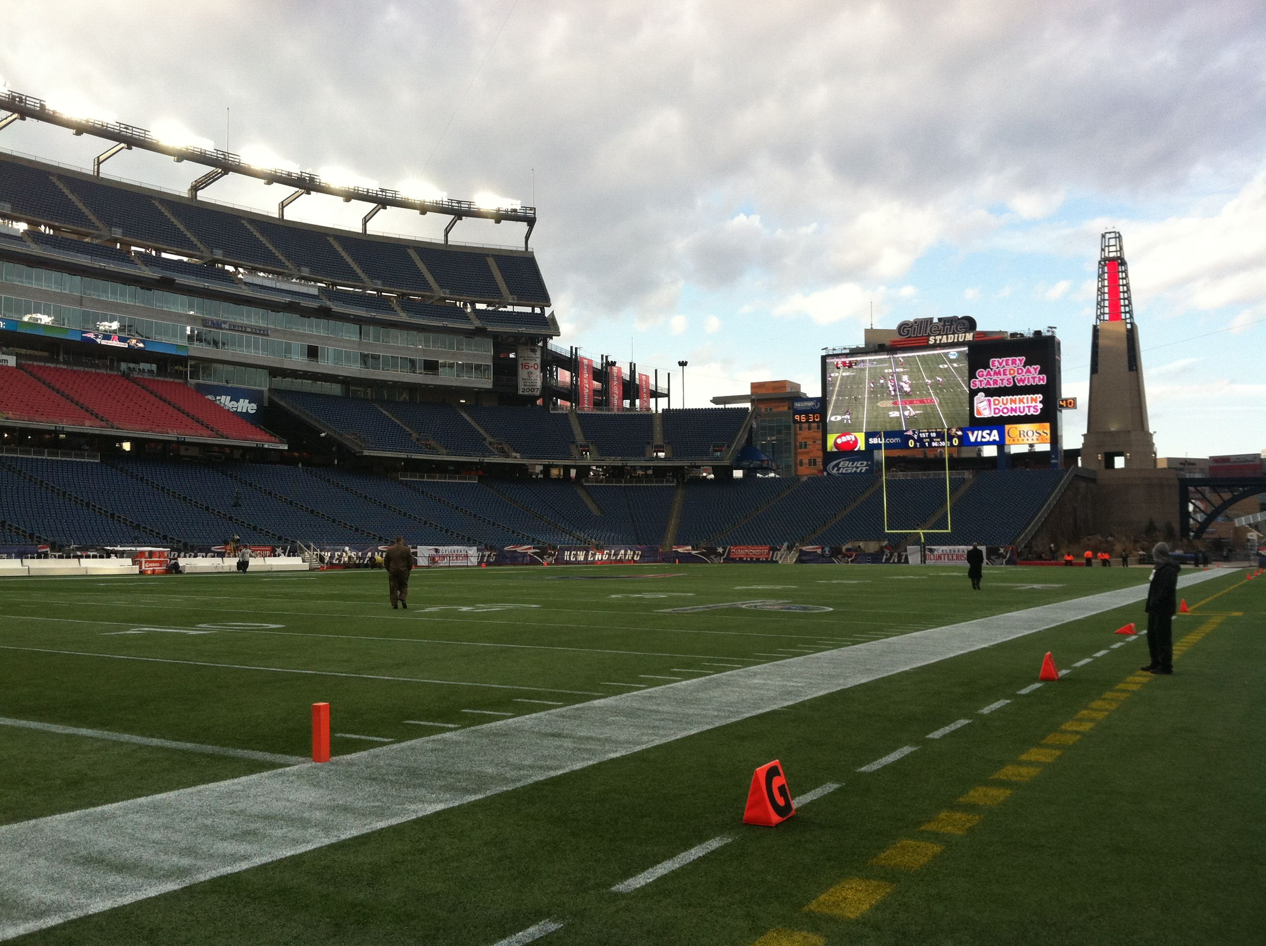 The Ravens Have Invaded Gillette Stadium The Calm Before The Storm Ravens Home New England Patriots Gillette Stadium