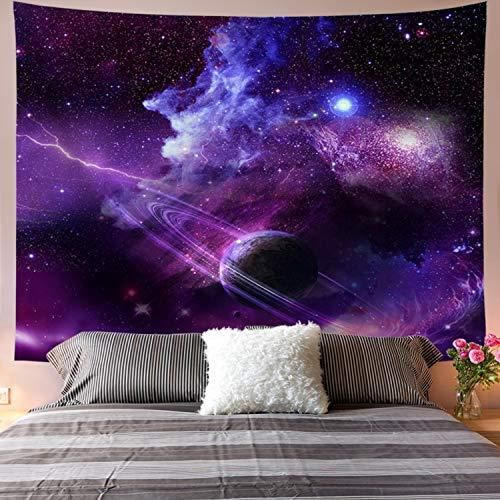 Galoker Galaxy Tapestry Starry Sky Tapestry Psychedelic Tapestry Space Landscape Tapestry Purple Starry Art Print Wall Hanging Tapestry for Home Decor - M/51.2 X 59.1 / Star Ring