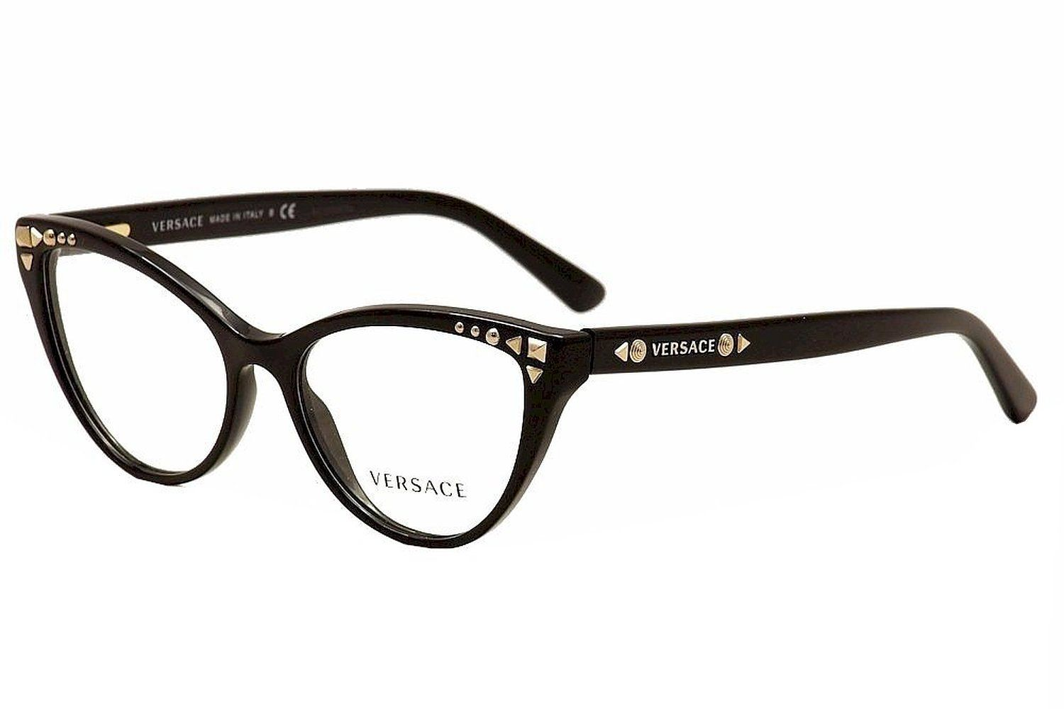 versace ve3191 eyeglasses gb1 black 54mm