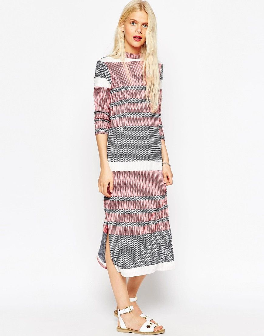 Another workwear win: this striped midi-dress will have you AW15 sorted and meeting-ready.