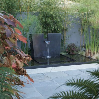 Sculptural Waterfall In Pond Garden Water Features In The Garden