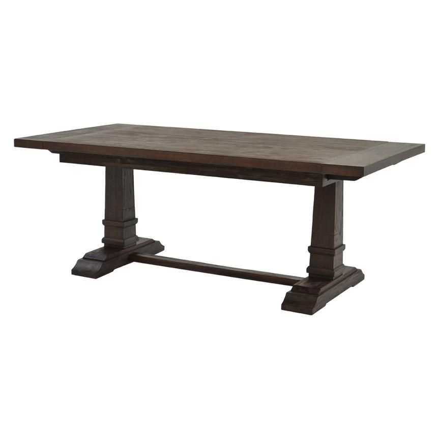 Hudson Rustic Java Extendable Dining Table