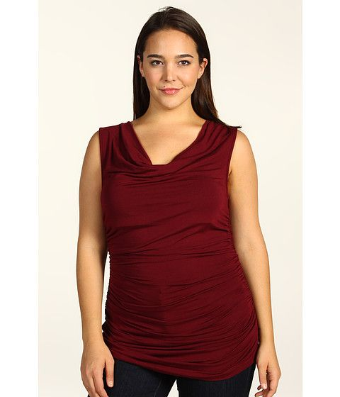 DKNYC Plus Size Sleeveless Cowl Neck Top