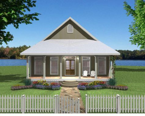 Plan #7986 2 bedroom, 2 bath house plan without garage Rustic