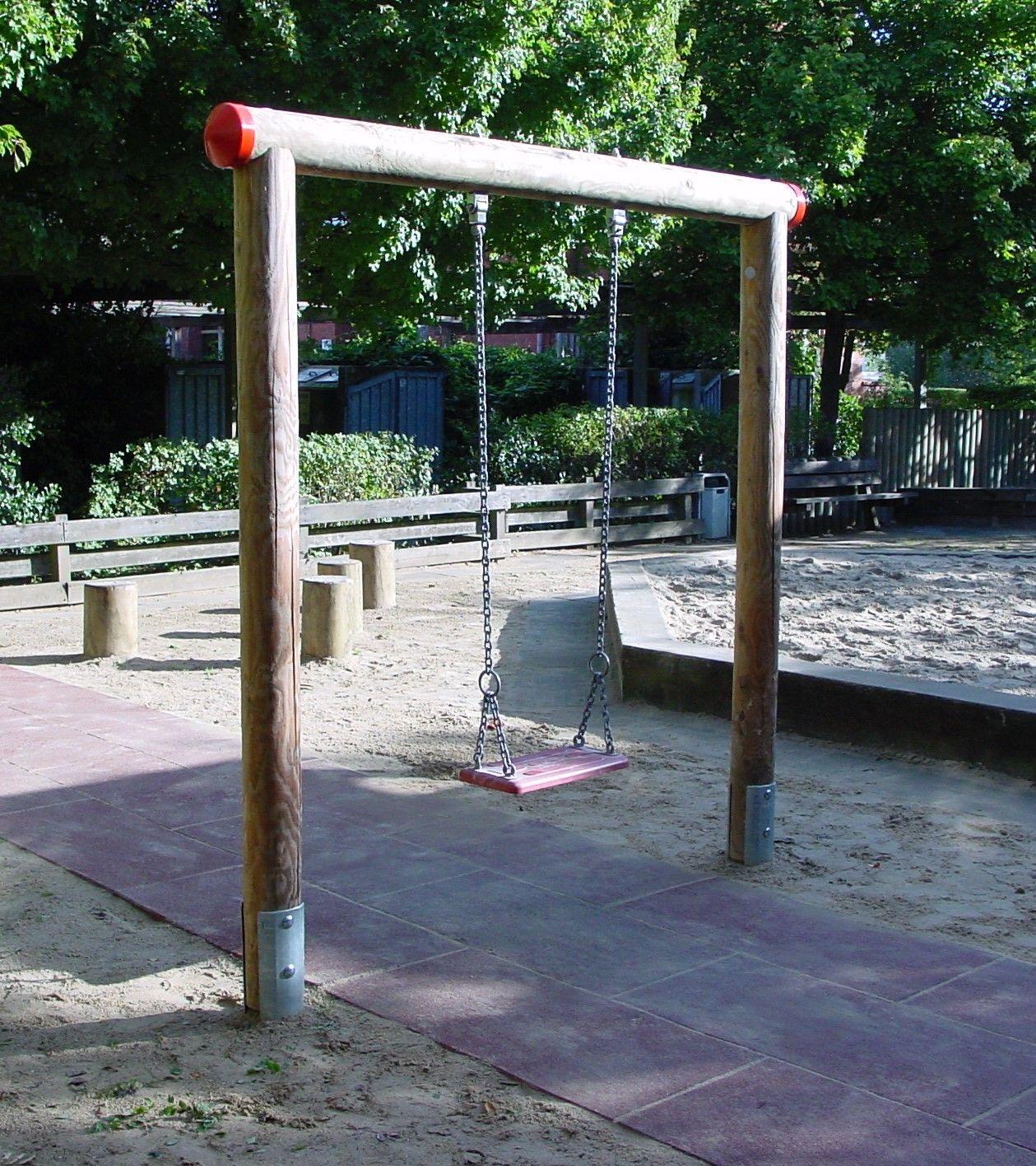 Holzschaukel als Einzelholzschaukel DIN EN 1176 TÜV/GS ...