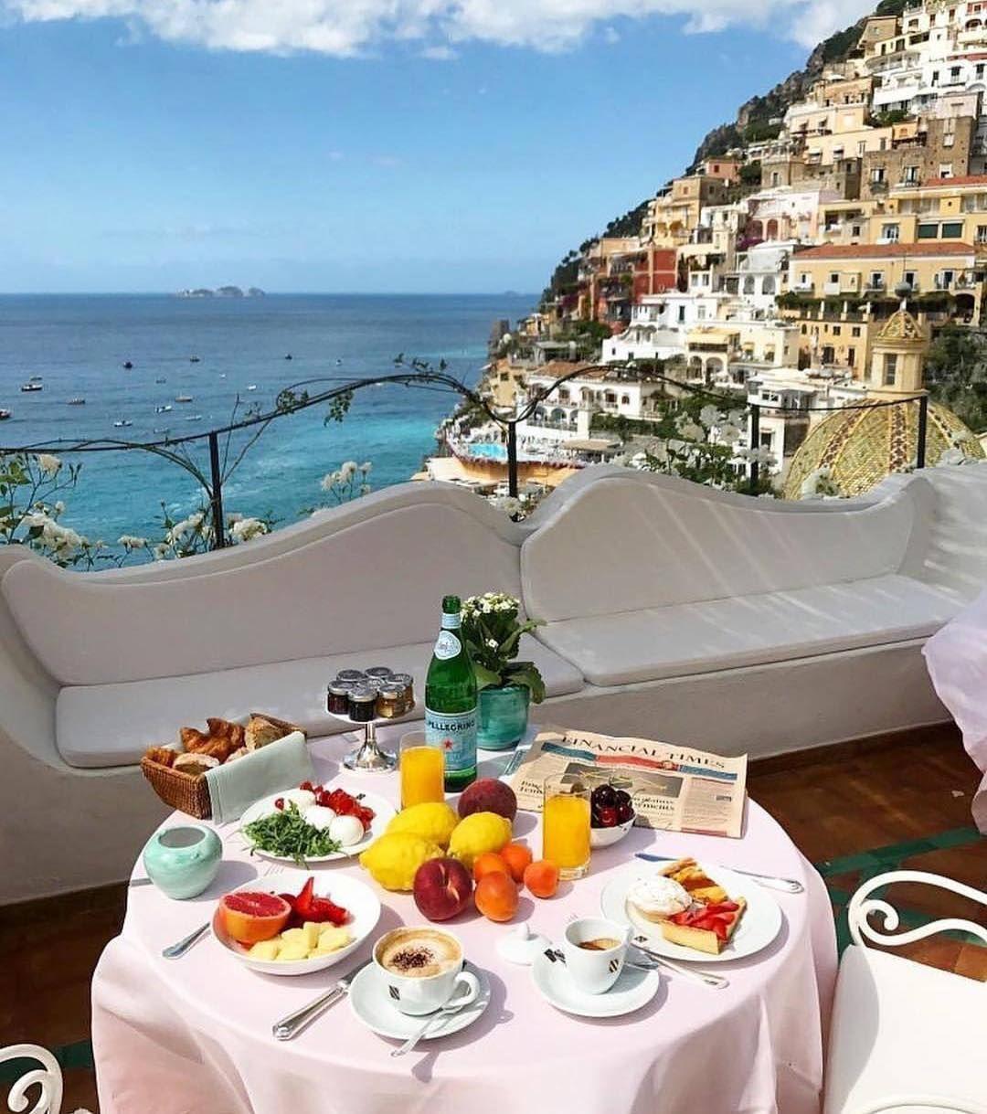 Bom Diaaaa Café Da Manhã Em Positano Vamos Great