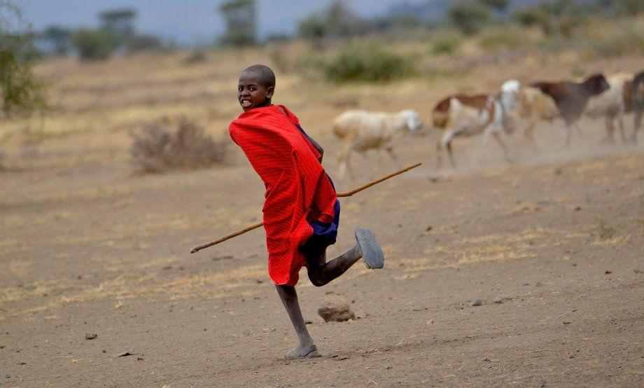 A Masai youth in Tanzania.