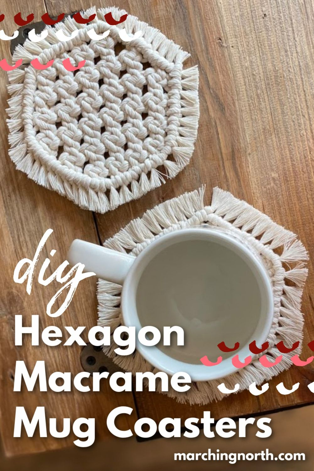 Photo of DIY Hexagon Macrame Mug Coasters // Free Pattern & Video!