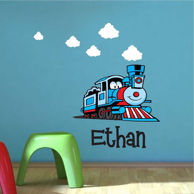 Custom Train Kids Bedroom Wall Decal _ Thomas The Train Wall Decal ...
