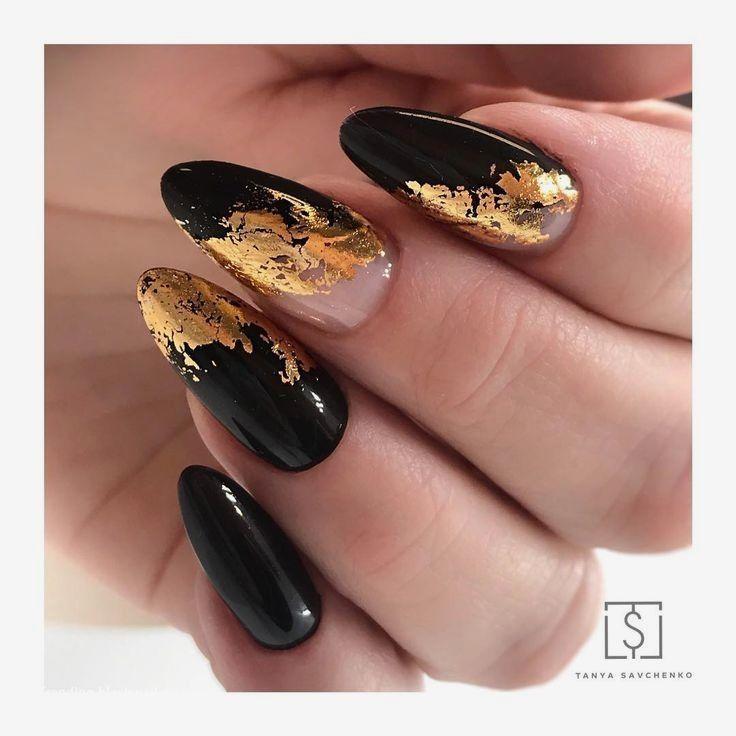 20 einfache schwarze Nail Art Design-Ideen #naildesigns - Alles ist da #makeupart