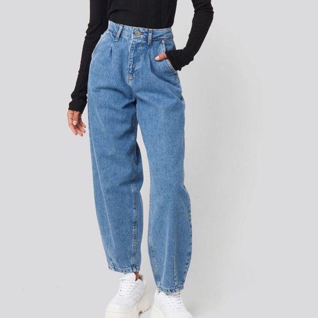Como Usar Pantalones Jeans Anchos De Mujer