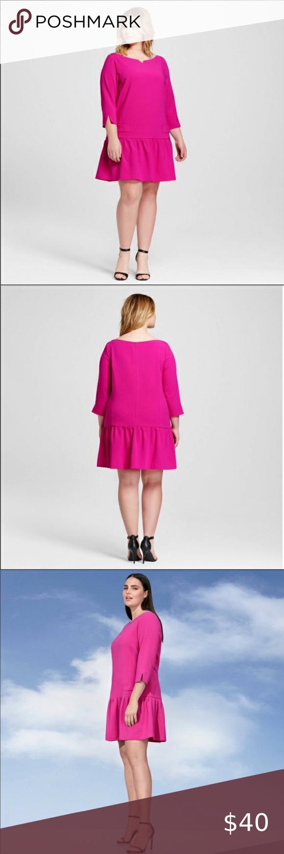 Nwt Victoria Beckham For Target Hot Pink Dress 2x Hot Pink Dresses Dresses 2x Victoria Beckham Target [ 1740 x 580 Pixel ]