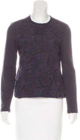 Tory Burch Floral Embroidered Sweater