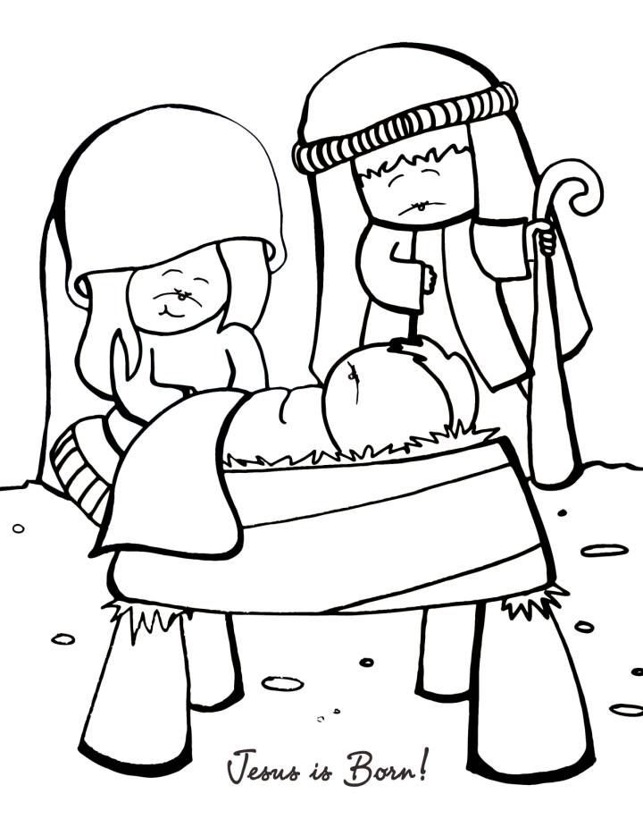Jesus is Born Coloring Page  Vbs  Pinterest  Sunday school