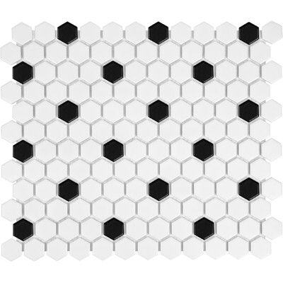 Sail 1 X 1 Ceramic Porcelain Mosaic Tile In Onyx White Hexagon Mosaic Tile Hexagonal Mosaic Porcelain Mosaic Tile
