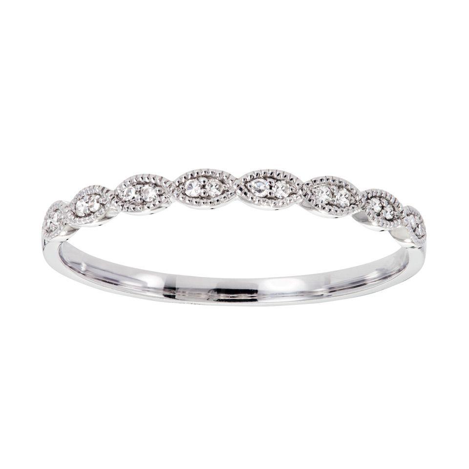 silver ring med diamant