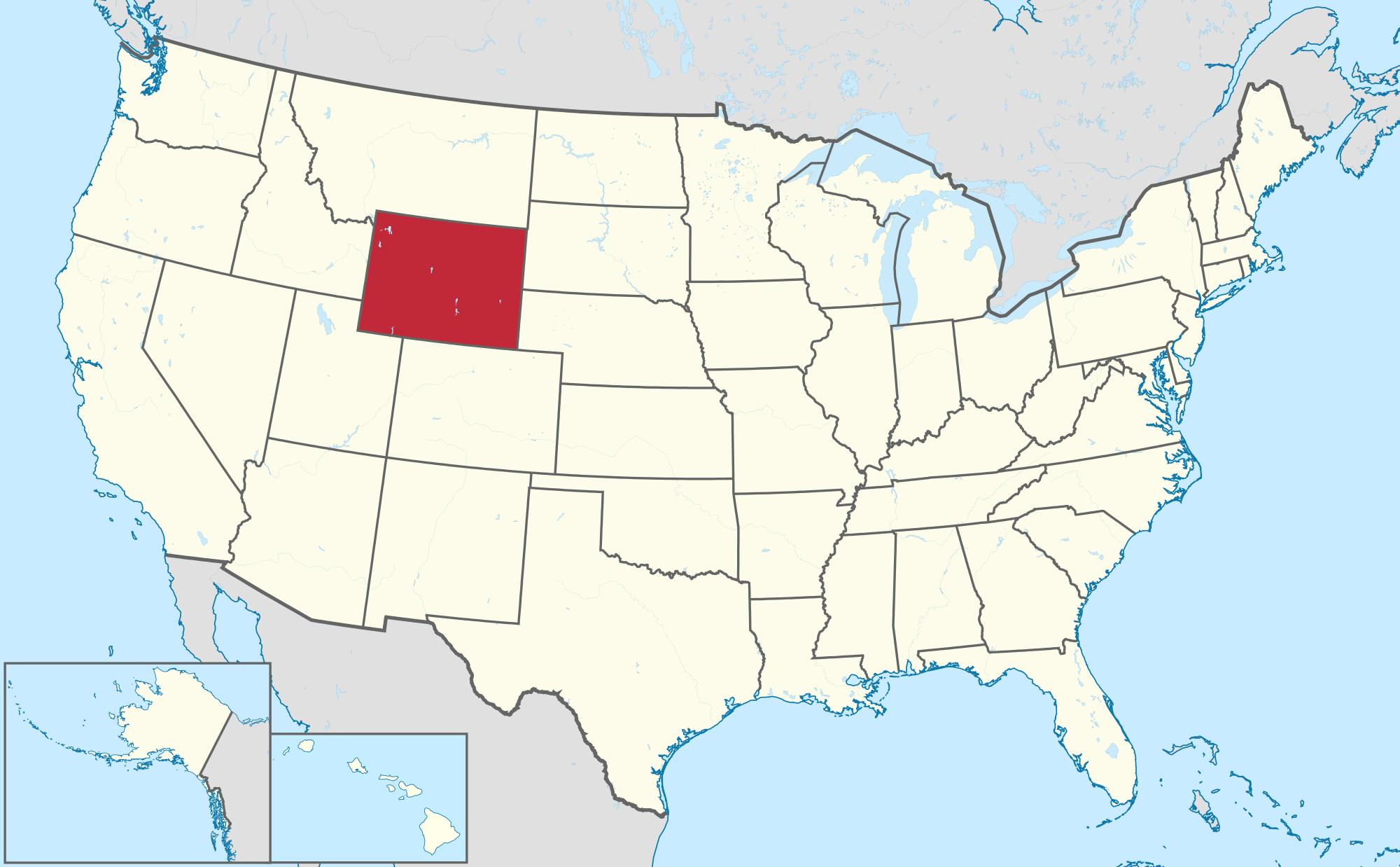 Where Is Wyoming On The Map Of The United States Of America - Map 0f the united states
