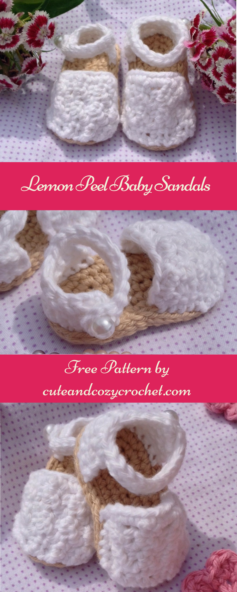 Lemon Peel Baby Sandals | Baby sandals, Crochet patterns baby and ...
