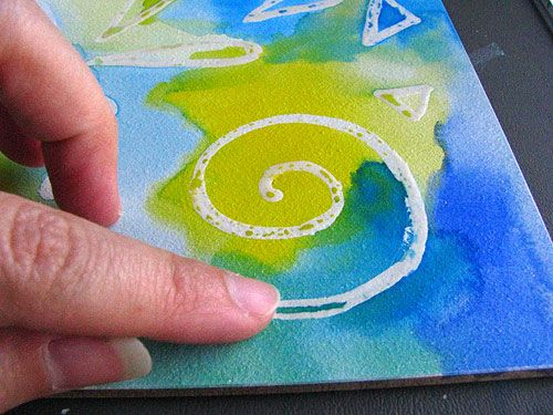 Removing Watercolor Masking Fluid Watercolour Watercolor