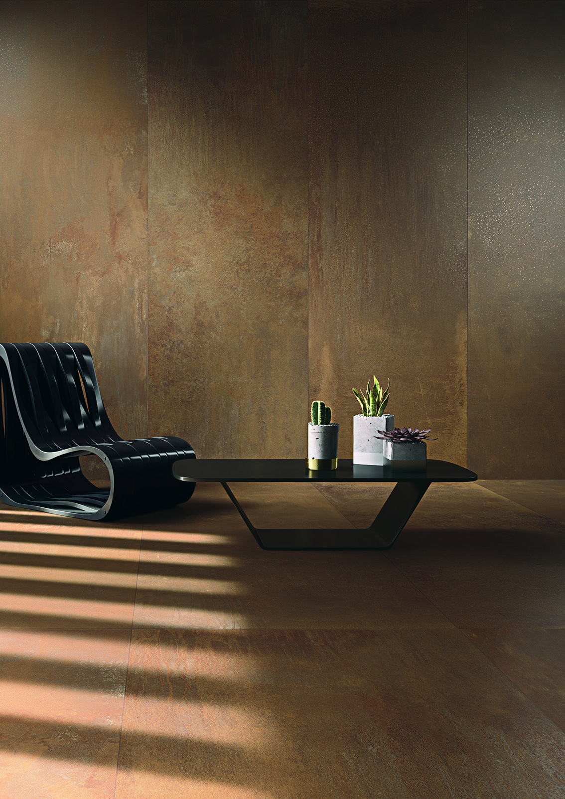 A metal look for the corten collection by cotto d 39 este for Copertura piastrelle