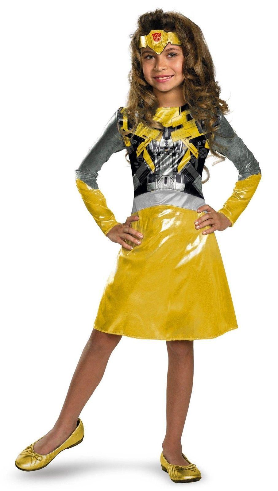 Girls Transformers Bumblebee Kids Halloween Costume | eBay  sc 1 st  Pinterest & Girls Transformers Bumblebee Kids Halloween Costume | eBay | Lillys ...