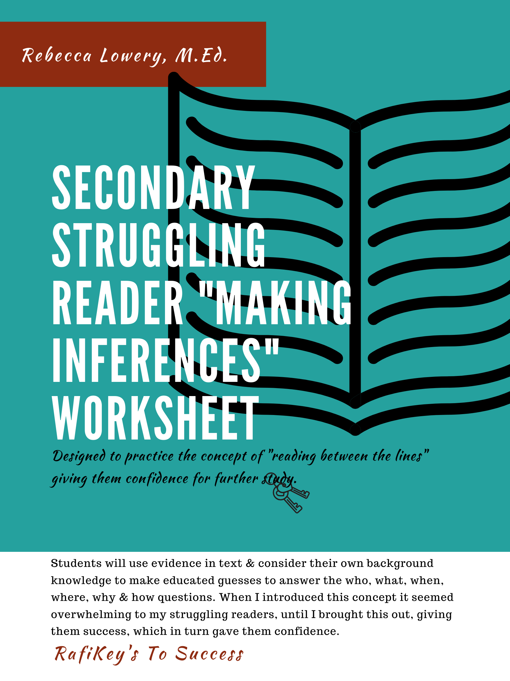 Secondary Struggling Reader Making Inferences Worksheet In