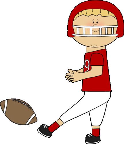 Football player kicking a football  | Cute Clips - 5