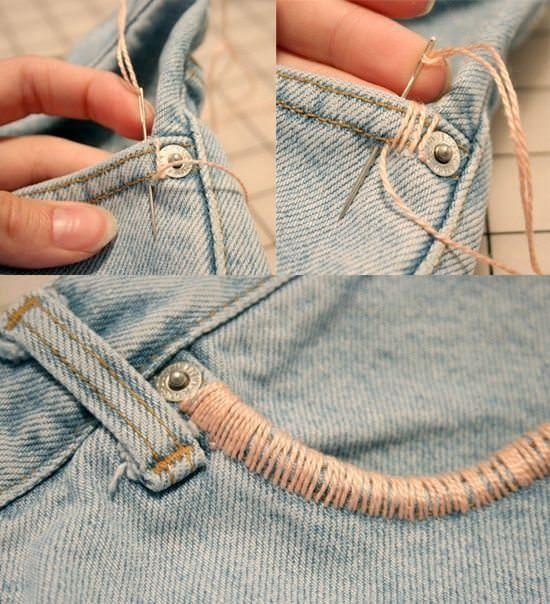 Faites passer un fil sur le côté de votre poche de jeans. À la fin du processus, vous serez ébahi. – Broderie et couture