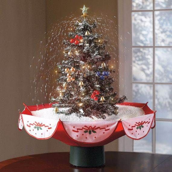 christmas-tabletop-decor-6 - Beautiful Tabletop Christmas Trees Decorating Ideas & Designs