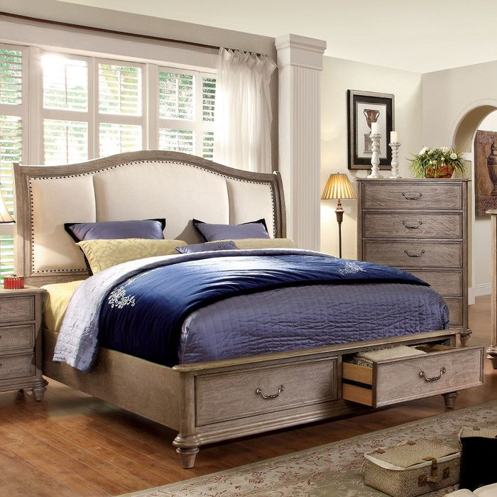 Hokku Designs Plaza Upholstered Platform Bed Reviews Wayfair Bedroom Set Furniture Furniture Of America