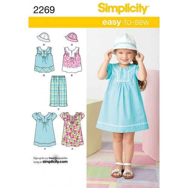Simplicity Pattern 2269-2269 XXS to L | Craft & Sewing | Pinterest ...