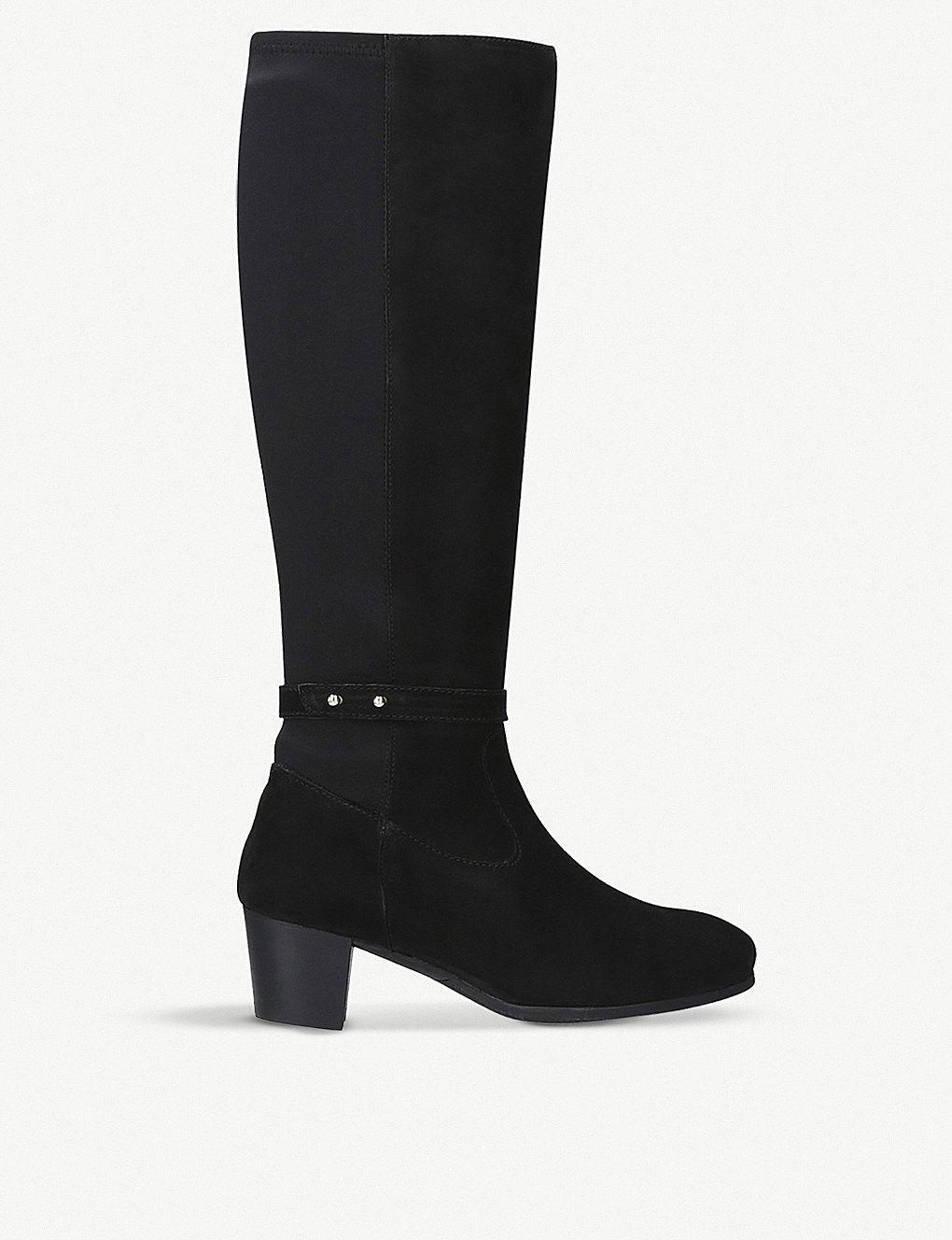CARVELA COMFORT Violet suede kneehigh boots Knee high