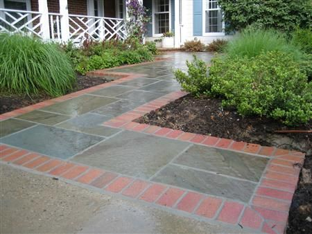 Brick Borders For Landscaping | Flagstone With Brick Border