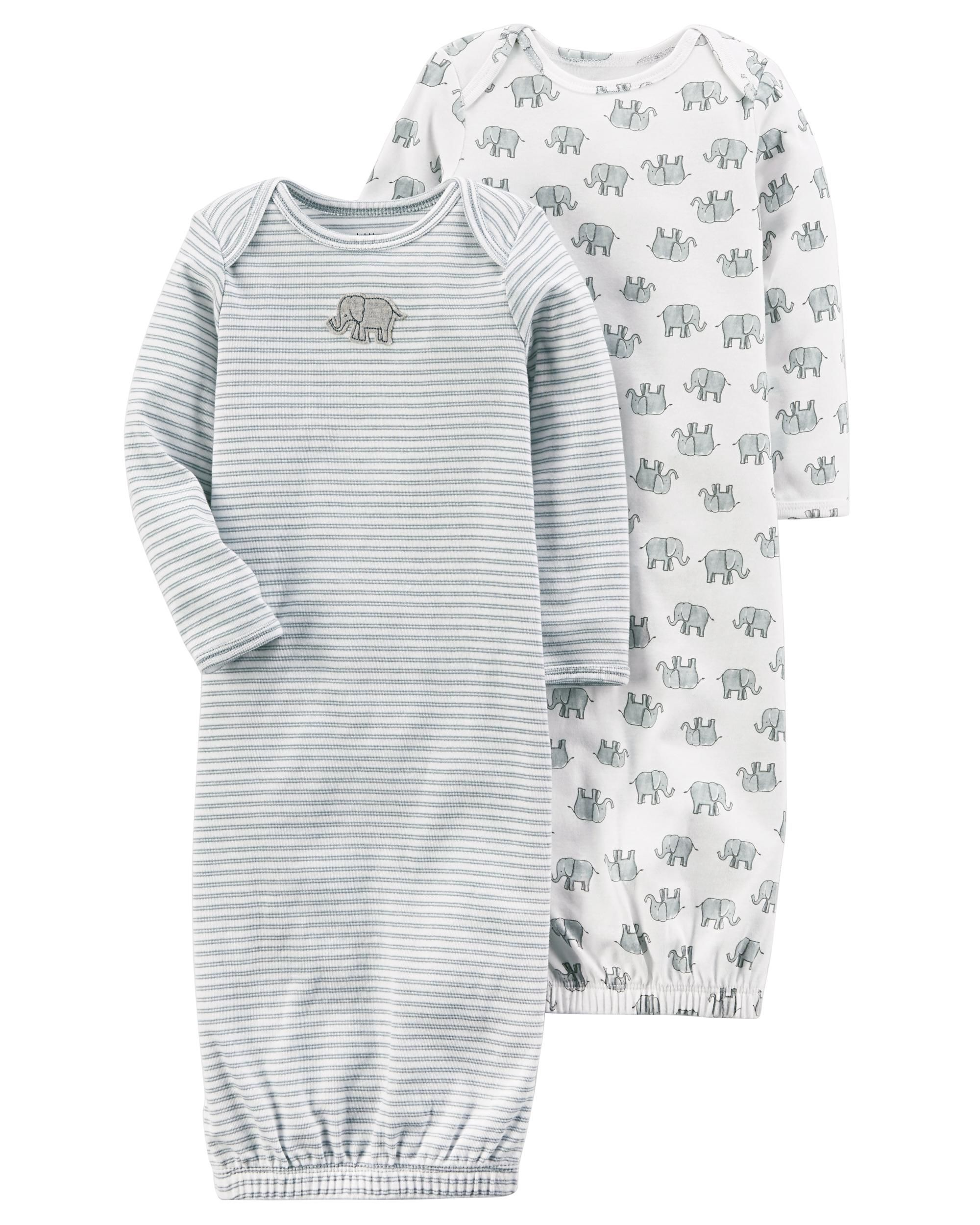 50dc02490 2-Pack Certified Organic Sleep Gowns | Baby Love | Carters baby girl ...
