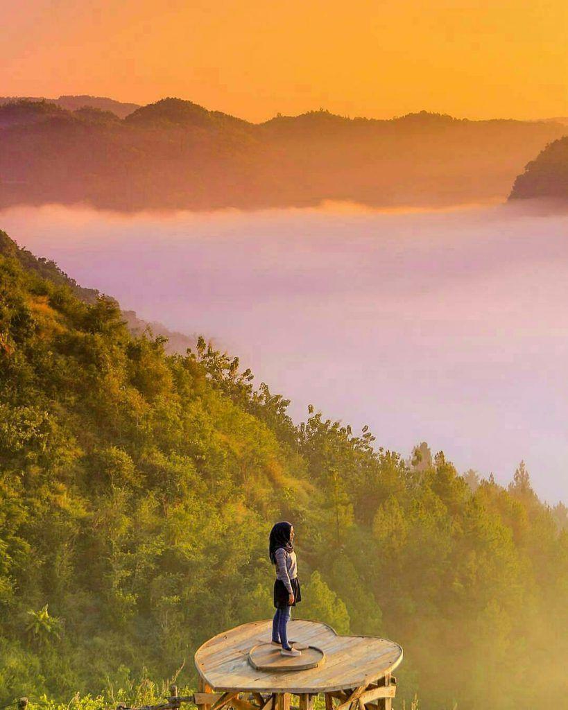 Bukit Panguk Kediwung Pesona Negeri Kahyangan Di Yogyakarta Pemandangan