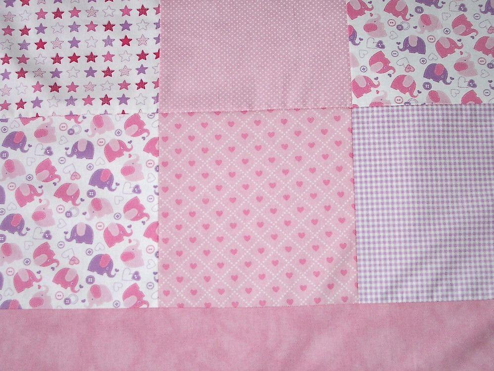 Babydecken Xxl Krabbeldecke 150x150cm Rosa Patchwork Decke