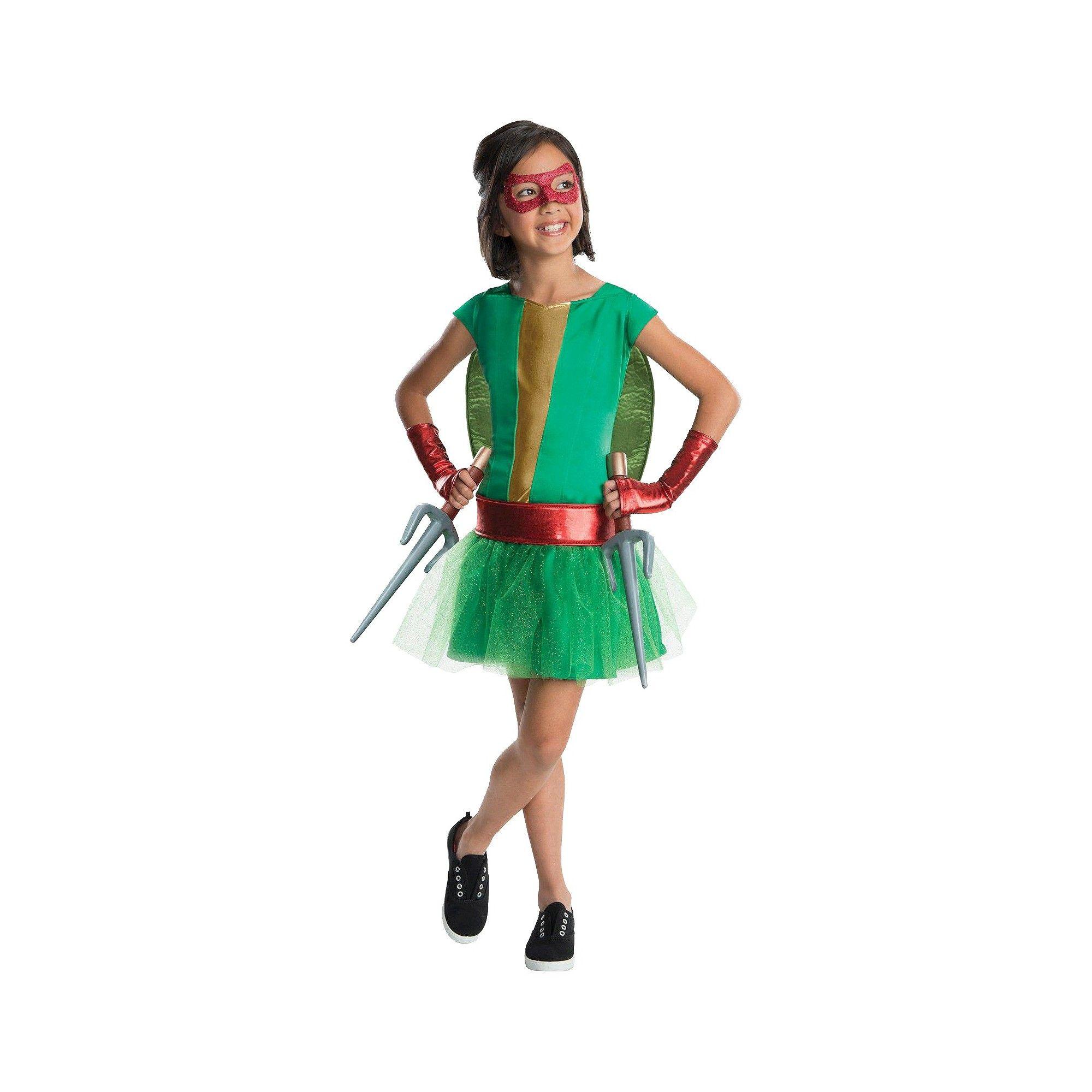 Halloween Teenage Mutant Ninja Turtles Girls\' Raphael Tutu Costume ...